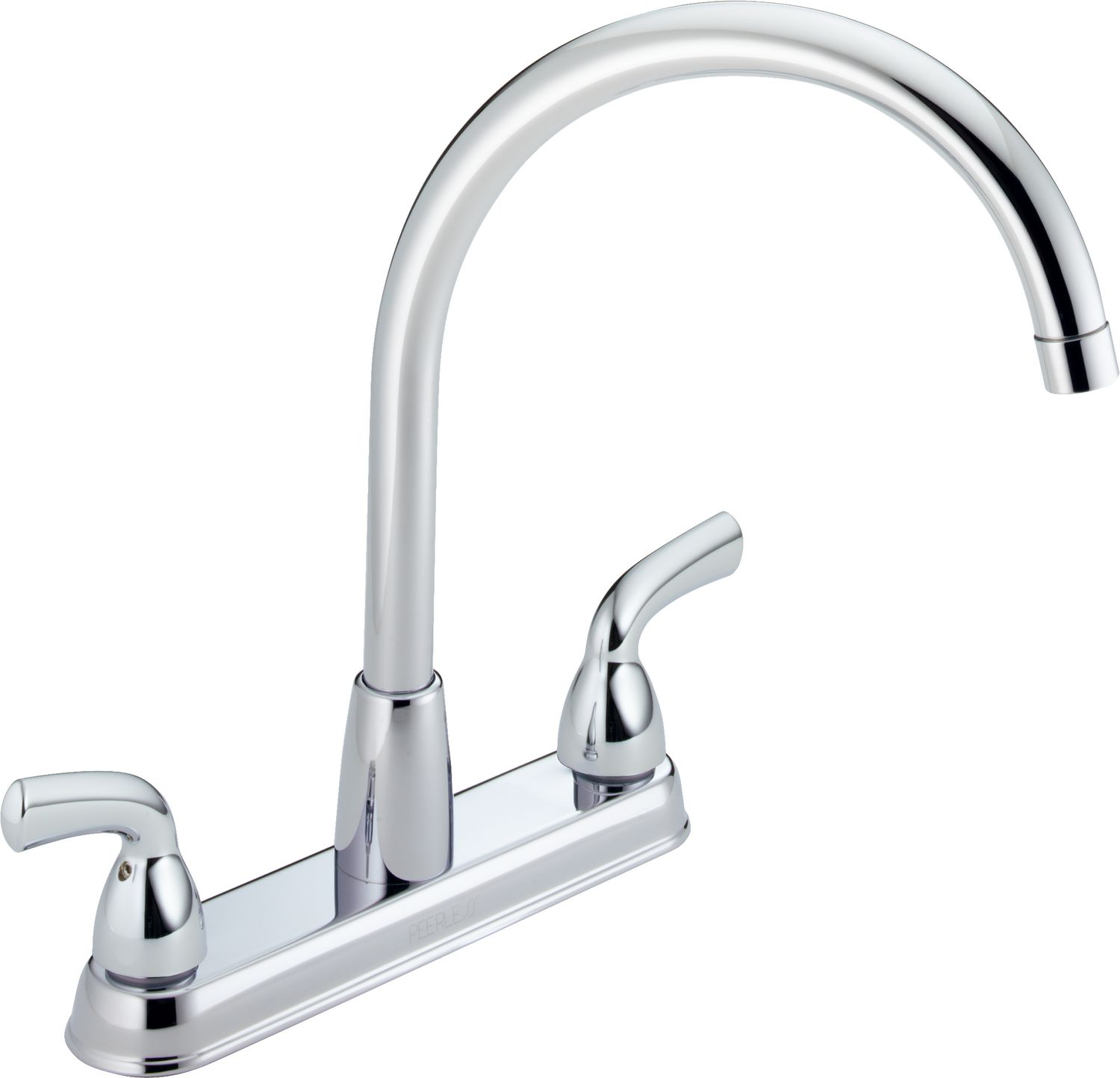 kitchen handle faucets faucet deck delta high shop waterfall mount arc pd white
