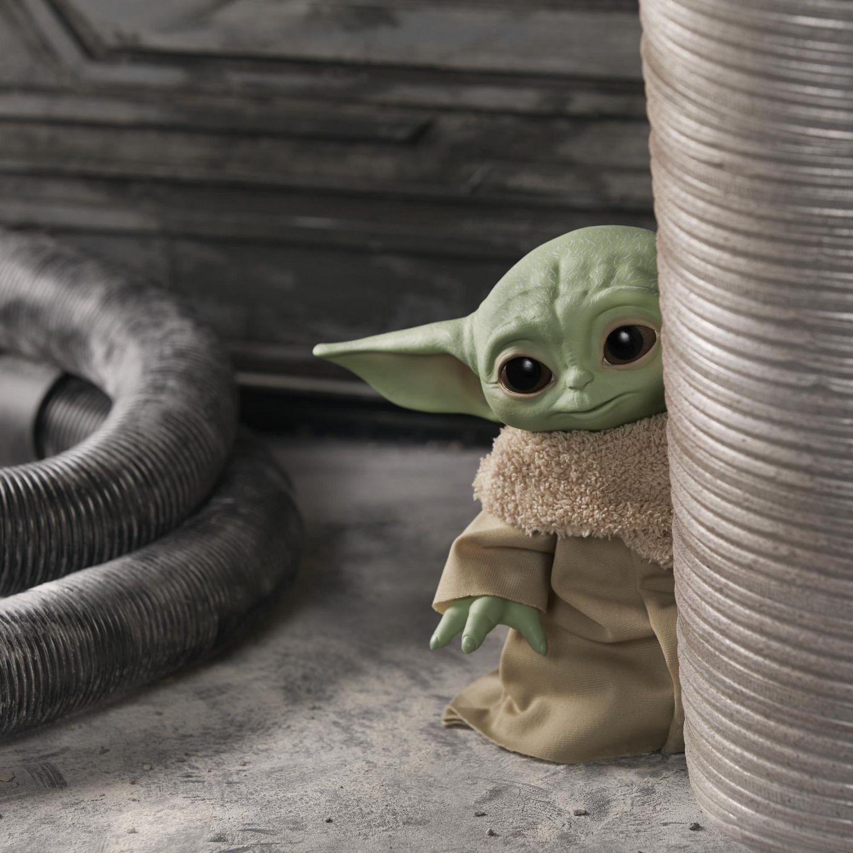 """Hasbro 7.5/"""" Star Wars les Mandaloriens l/'enfant bébé YODA PELUCHE PARLANTE JOUET"""