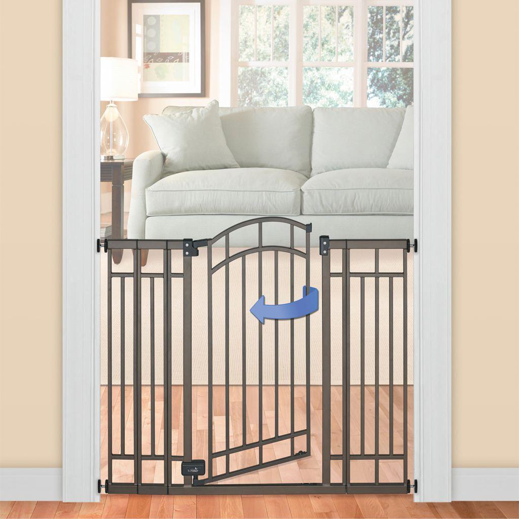 Summer Infant Deco Extra Tall Walk Thru Gate Bronze Summer Infant