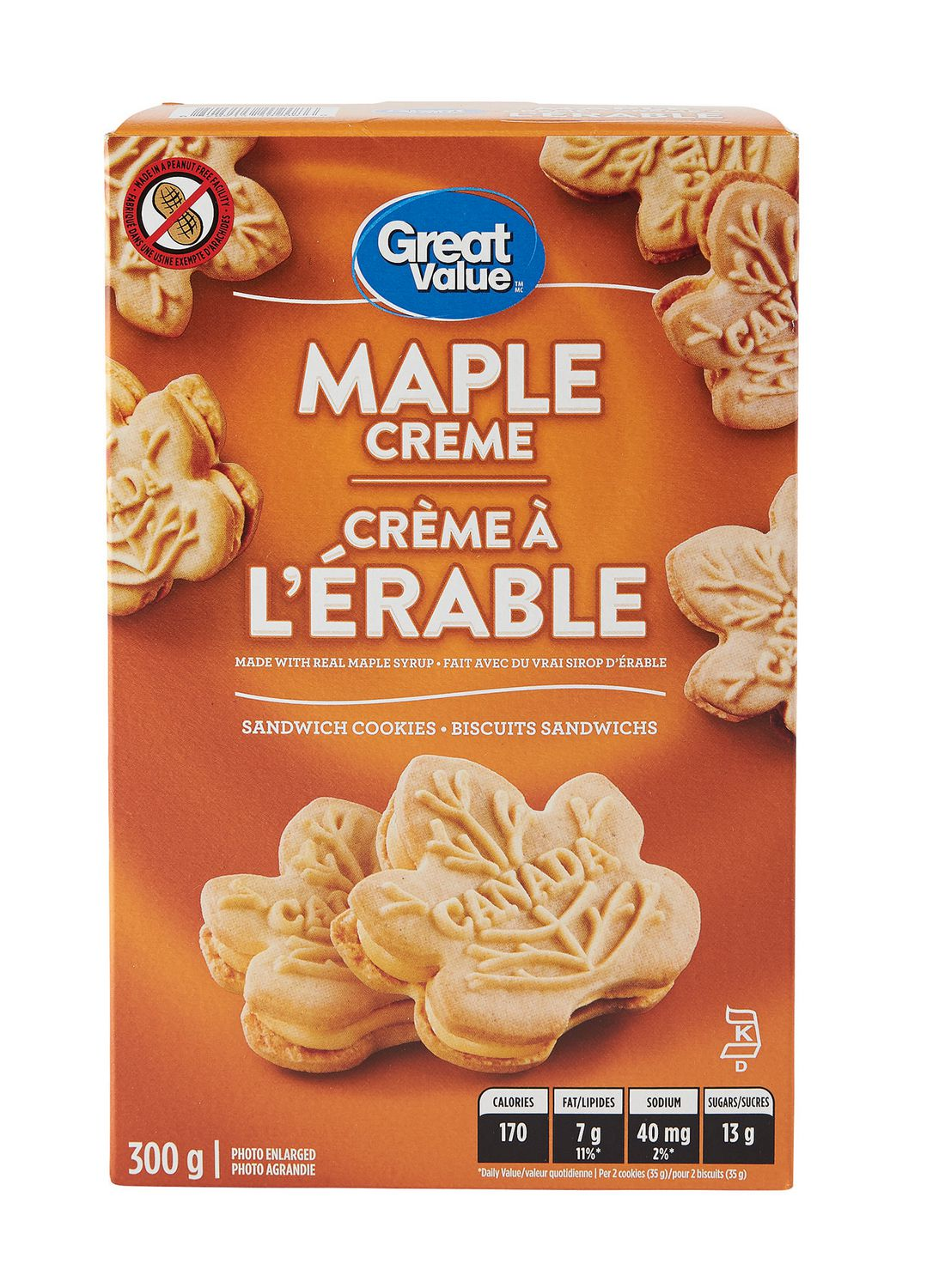 Great Value Maple Creme Sandwich Cookies