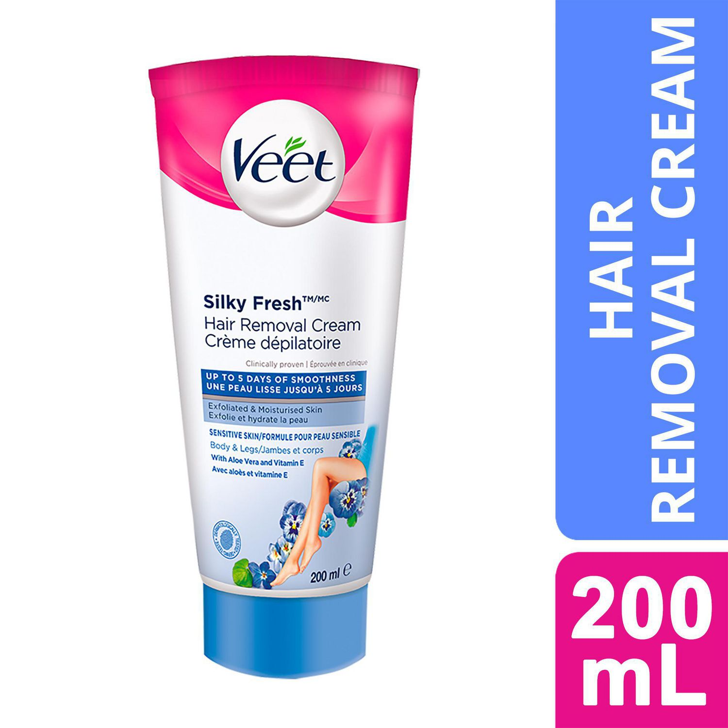 Veet Silky Fresh Hair Removal Cream Legs Body Sensitive Skin 200 Ml Walmart Canada