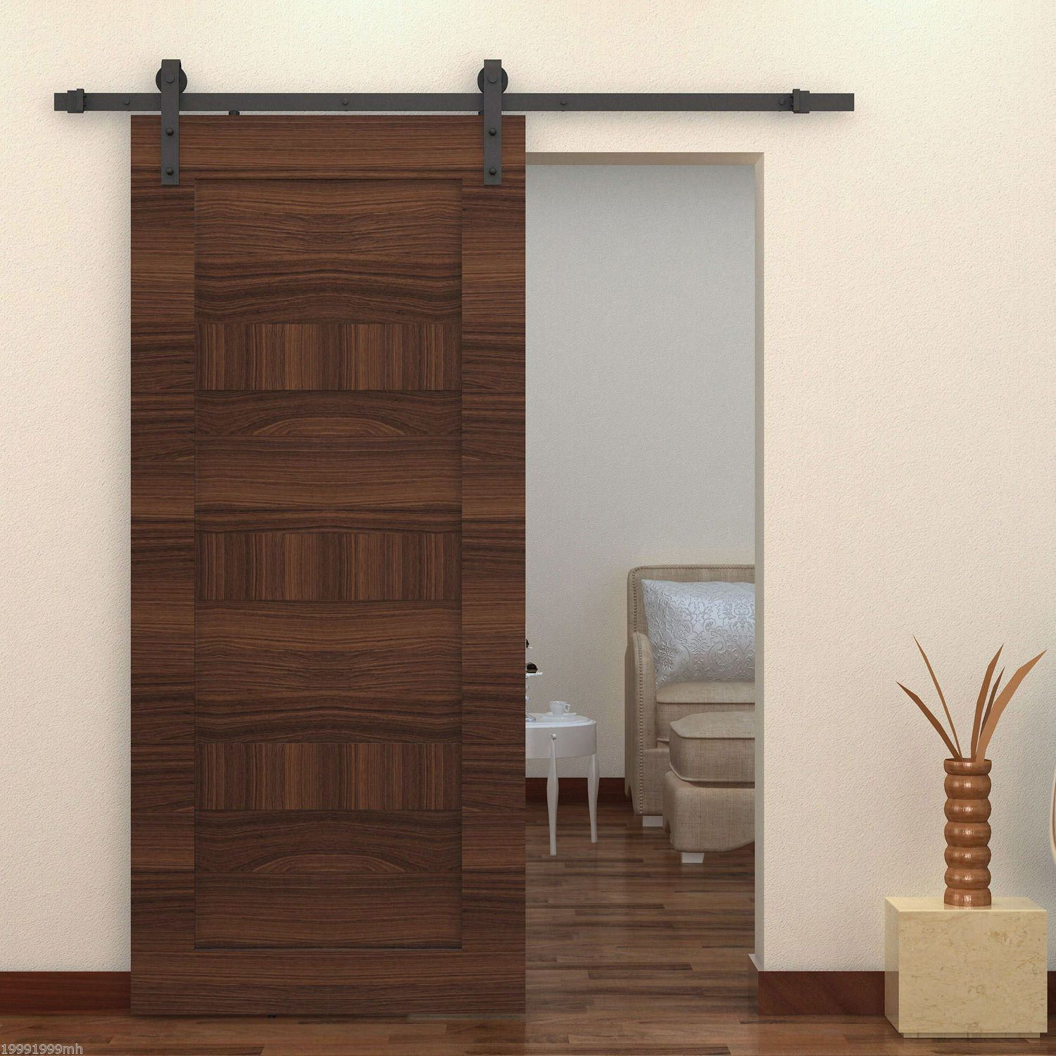 Homcom modern 6 interior sliding barn door kit walmart canada