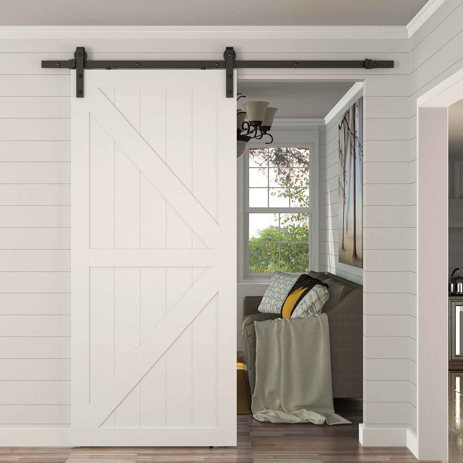 Homcom Modern 8 Interior Sliding Barn Door Kit Walmart Canada
