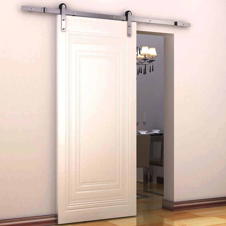 Coulisse Porte De Grange homcom ensemble de portes coulissantes intérieures de 6 pi