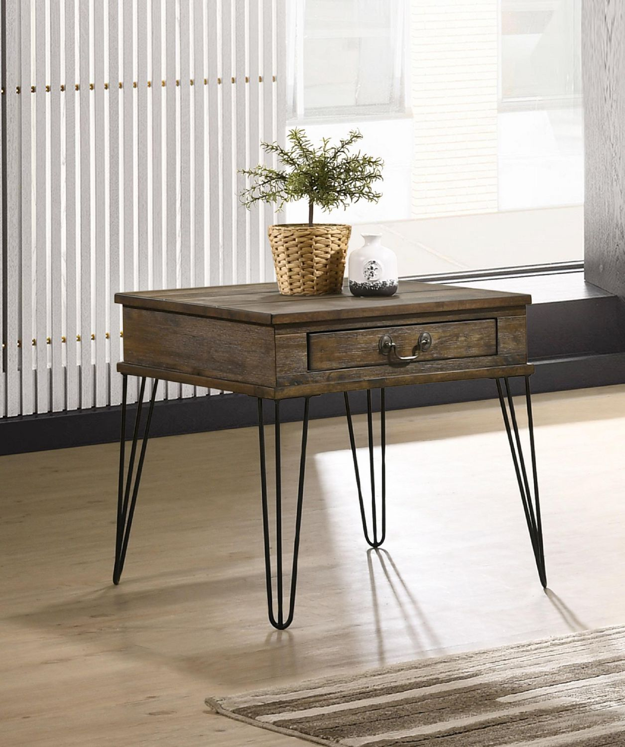Topline Home Furnishings Oak Rustic End Table Walmart Canada