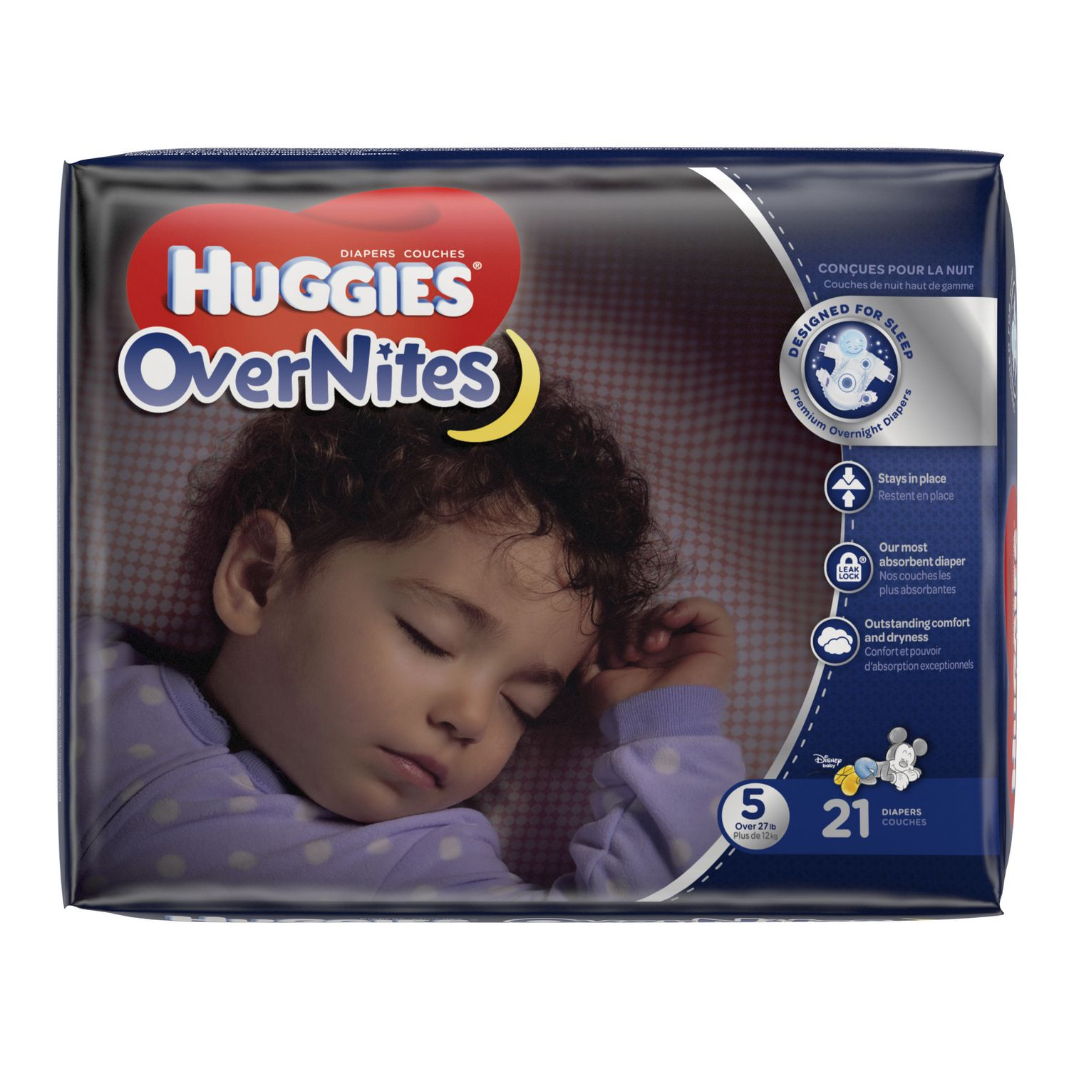 Size 4 21 count HUGGIES OverNites Night Time Baby Diapers