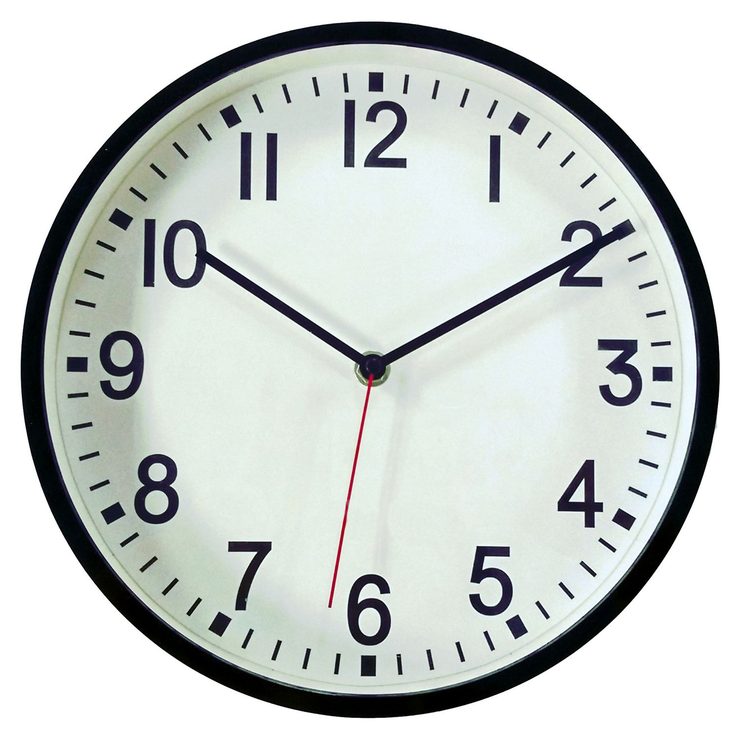 Hometrends black contemporary wall clock image 1 of 1 zoomed image