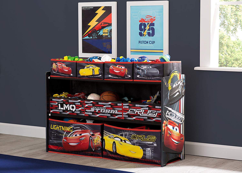 Delta Children Disney Cars 3 Deluxe Multi Bin Toy Organizer