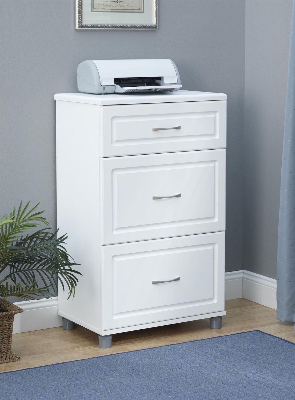 "Kendall 24"" 3 Drawer Base Cabinet, White | Walmart Canada"