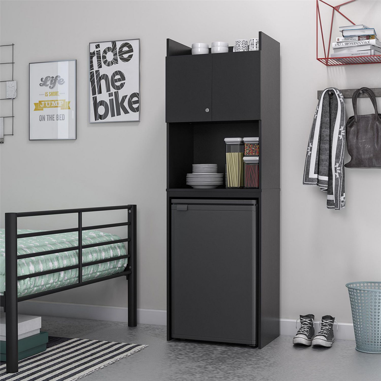 Clarkson Mini Refrigerator Storage, Mini Fridge Cabinet For Dorm Room