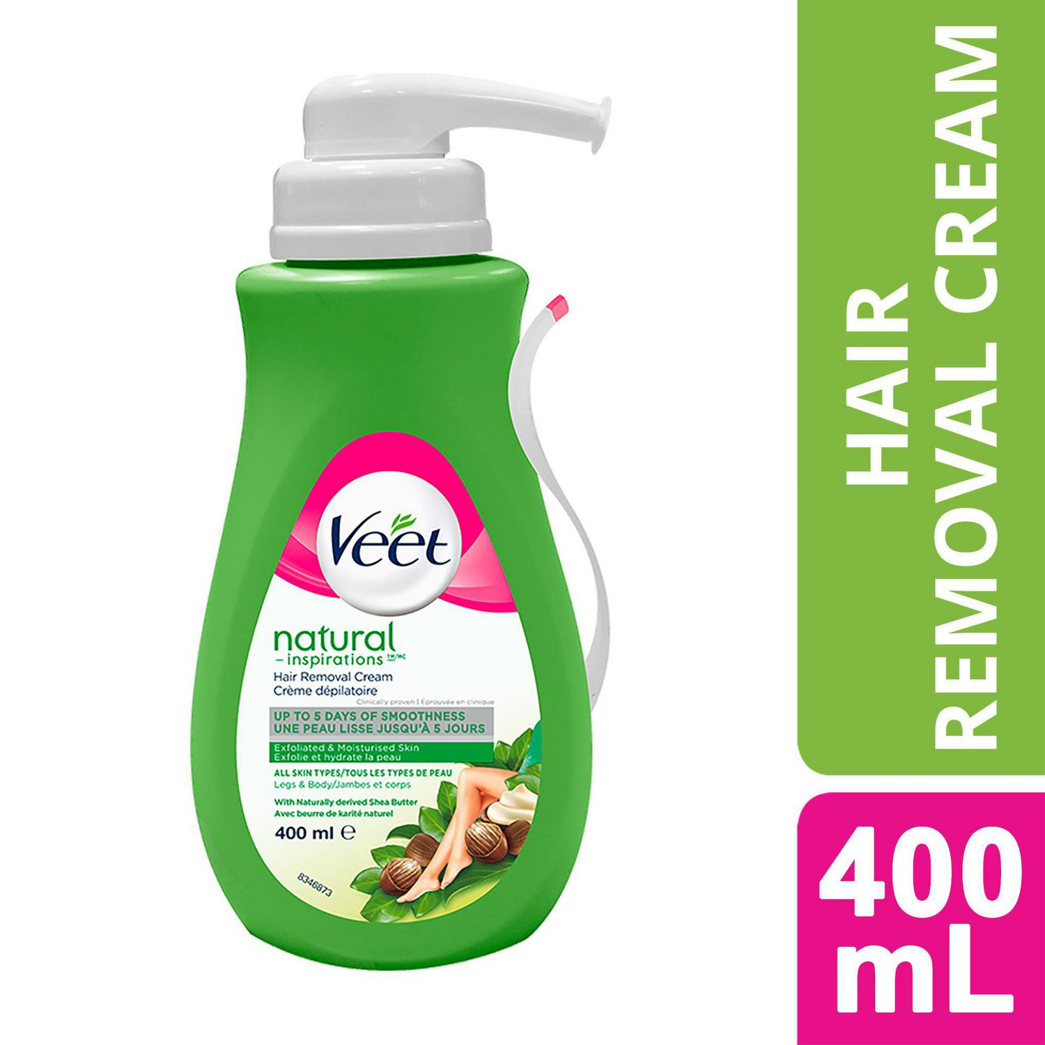 Veet Natural Inspirations Hair Removal Cream Legs Body Normal
