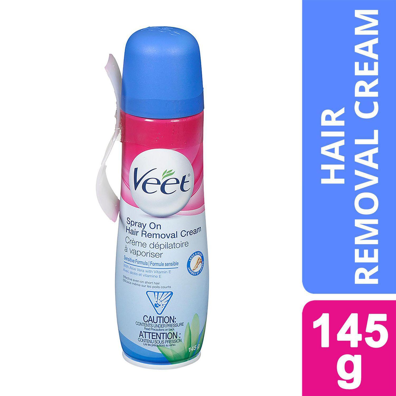 Veet Spray On Hair Removal Cream Legs Body Sensitive Formula Walmart Canada