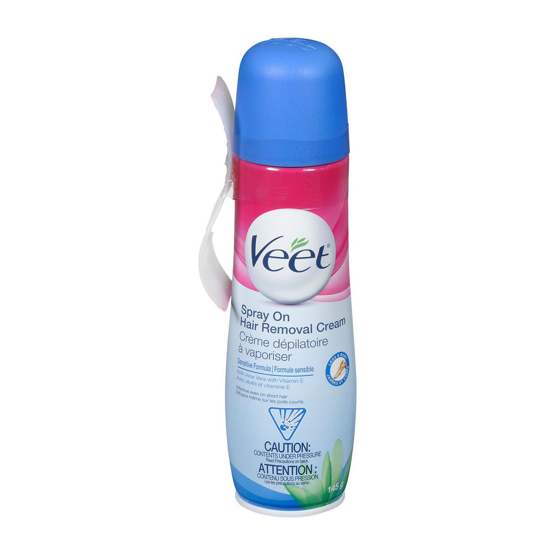 Veet Spray On Hair Removal Cream Legs Body Sensitive Formula