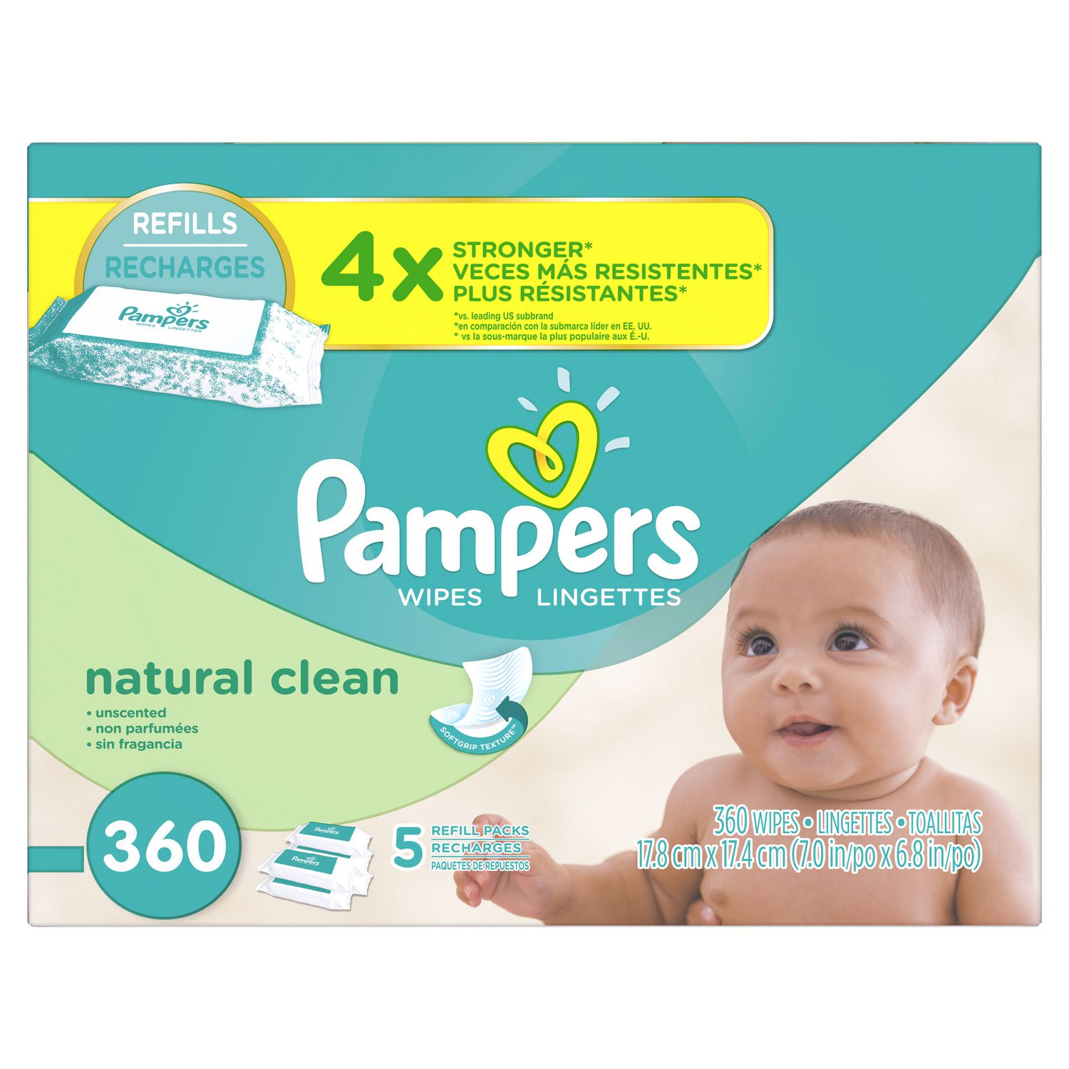 Pampers Baby Wipes Natural Clean 5x Refill Walmart Canada