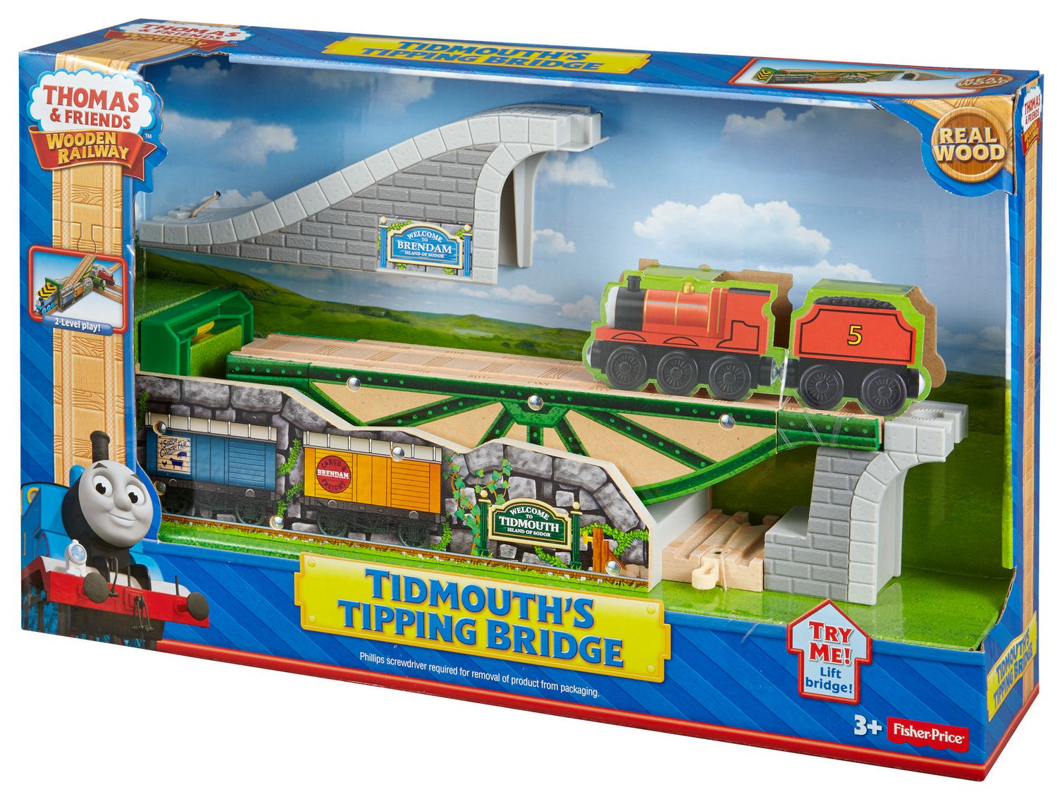 Fisher-Price Thomas & Friends Wooden Railway Tidmouth\'s Tipping Shed ...