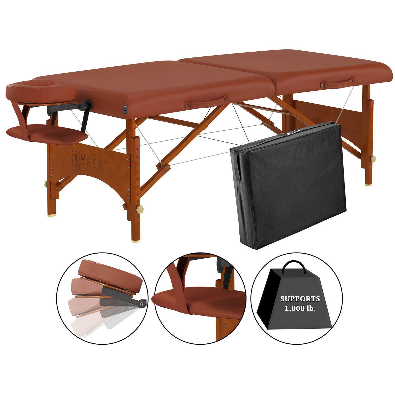 Master Massage 28 Inch Fairlane Sport Size Portable Massage Table Cinnamon  Color | Walmart Canada