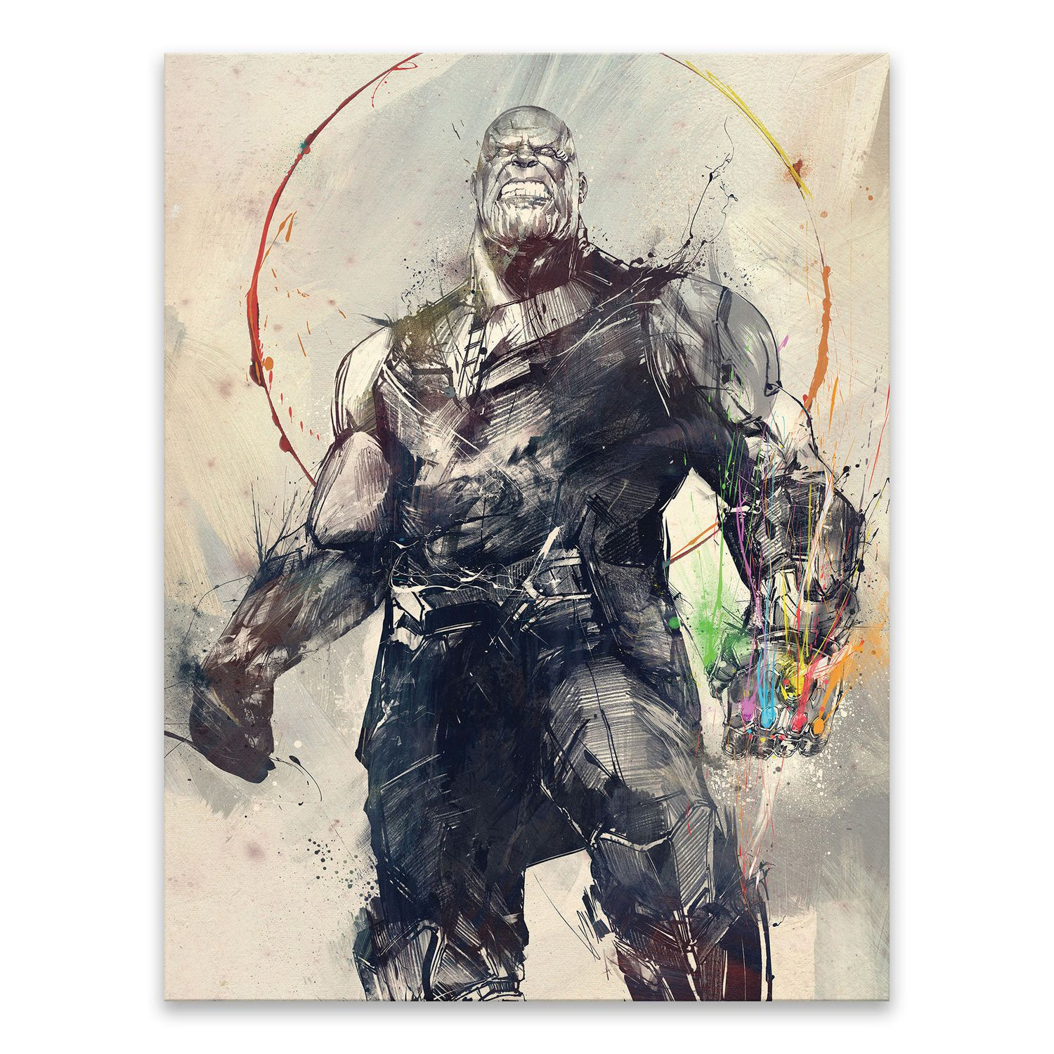 Artissimo Designs Marvel Avengers Painterly Thanos Printed
