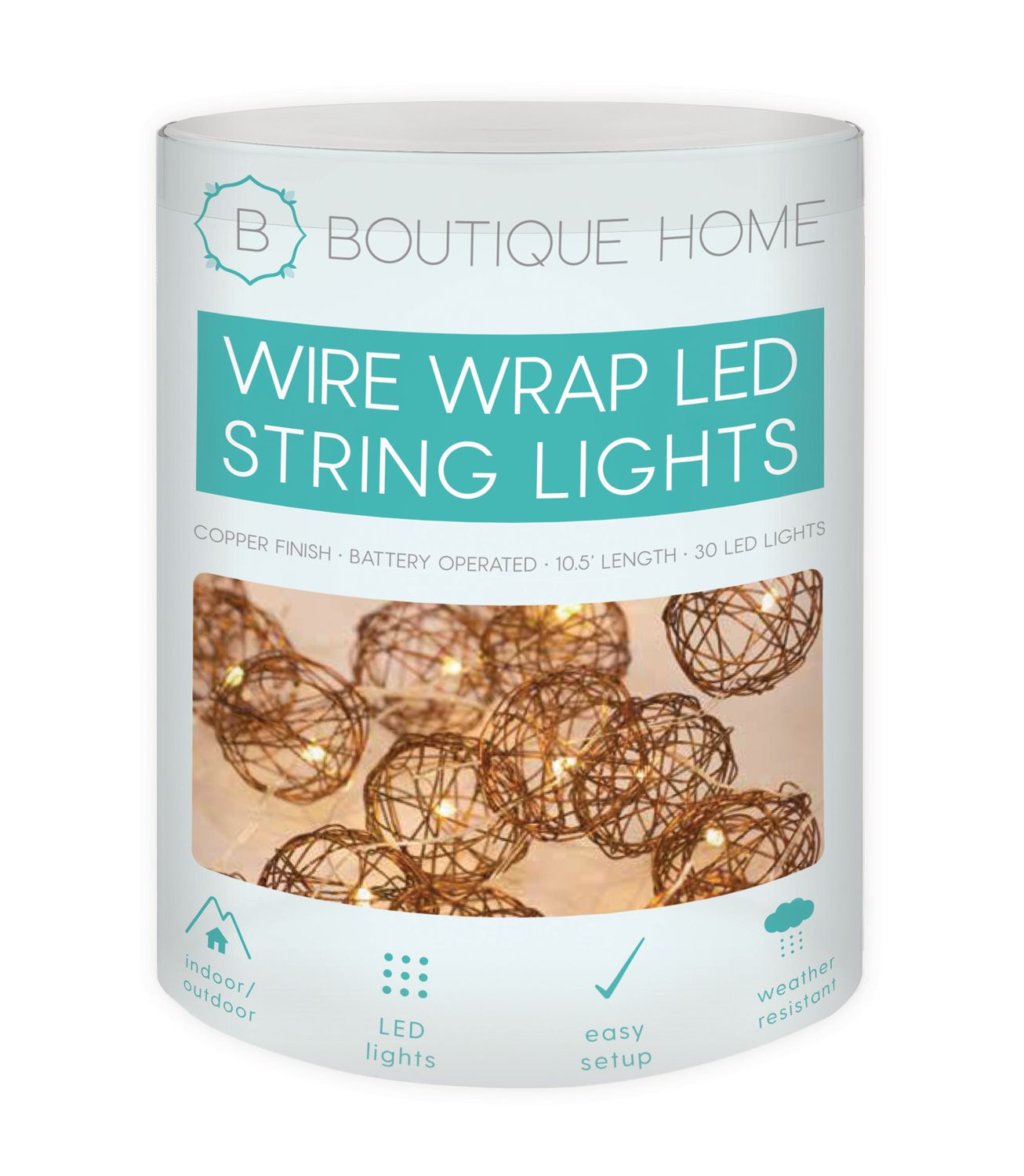 Boutique Home Copper Wired Wrap LED String Lights | Walmart Canada