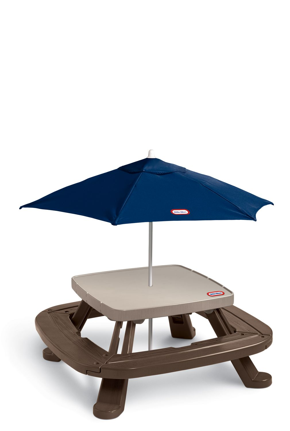 - Little Tikes Fold N' Store Picnic Table With Market Umbrella