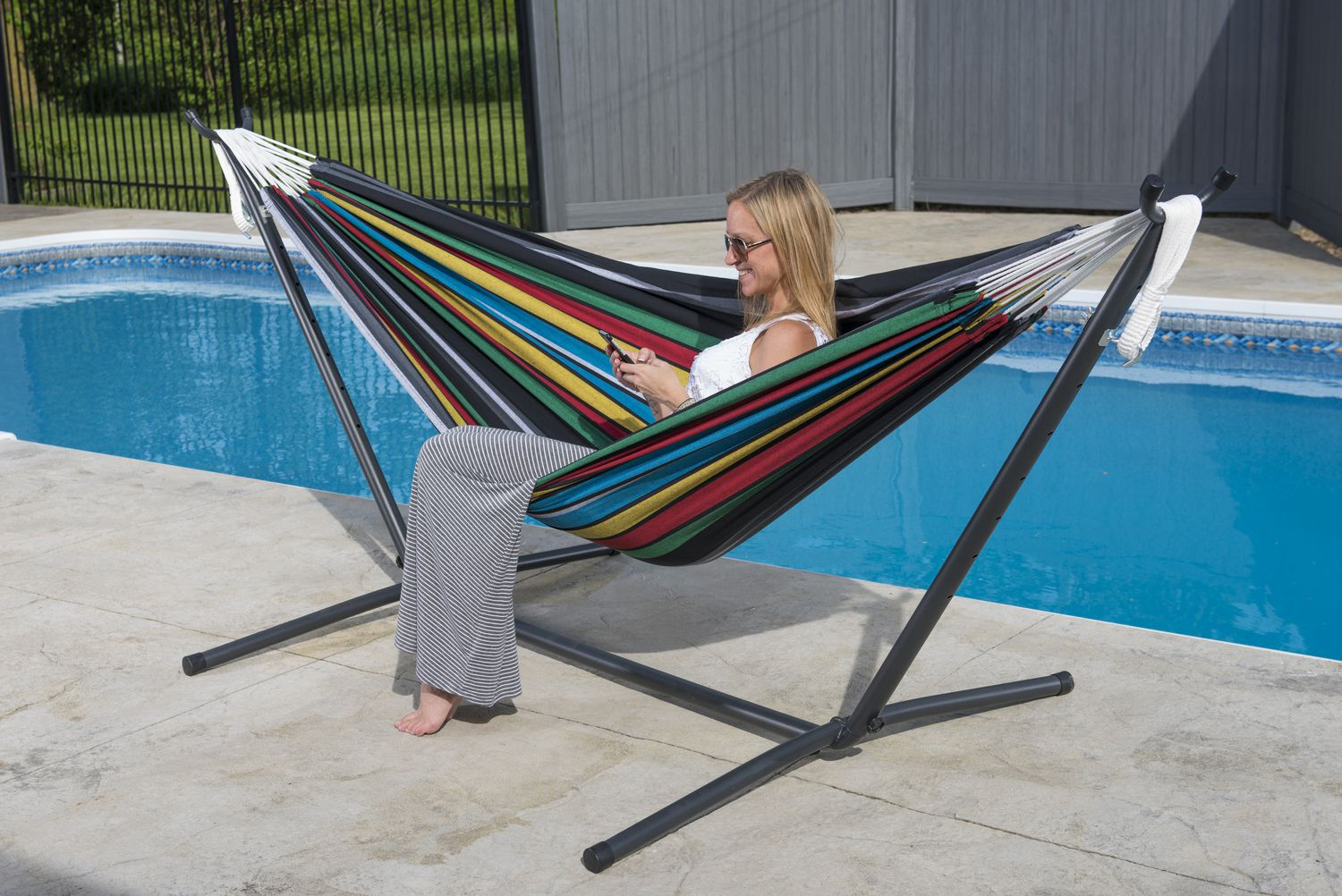 Vivere Ltd Vivereu0027s Combo   Double Rio Night Hammock With Stand (9ft) |  Walmart Canada