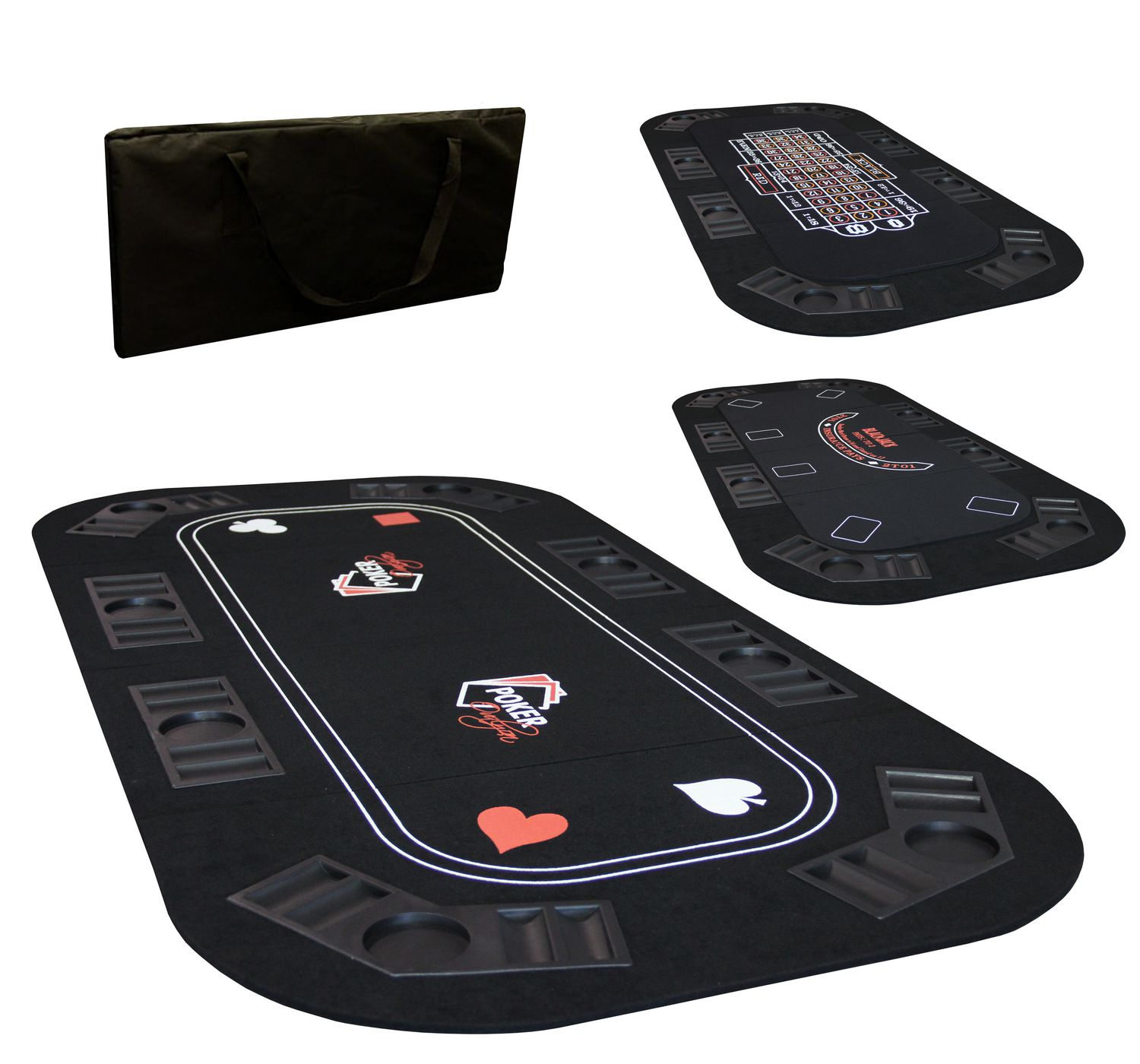 Ovalyon 3 In 1 Texas Hold'em Poker, Roulette And Black Jack