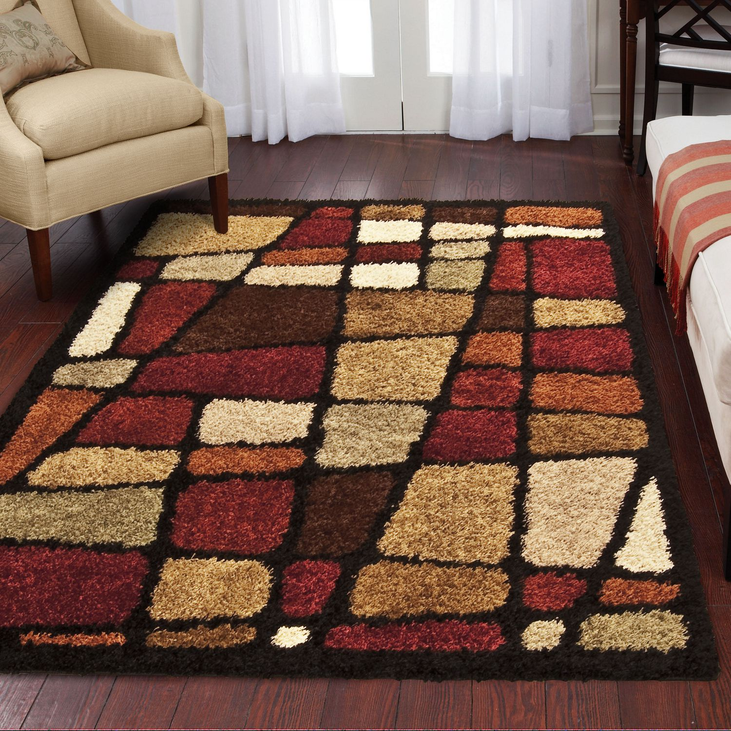 shag rug area dp dining safavieh collection x kitchen and florida smoke com amazon beige
