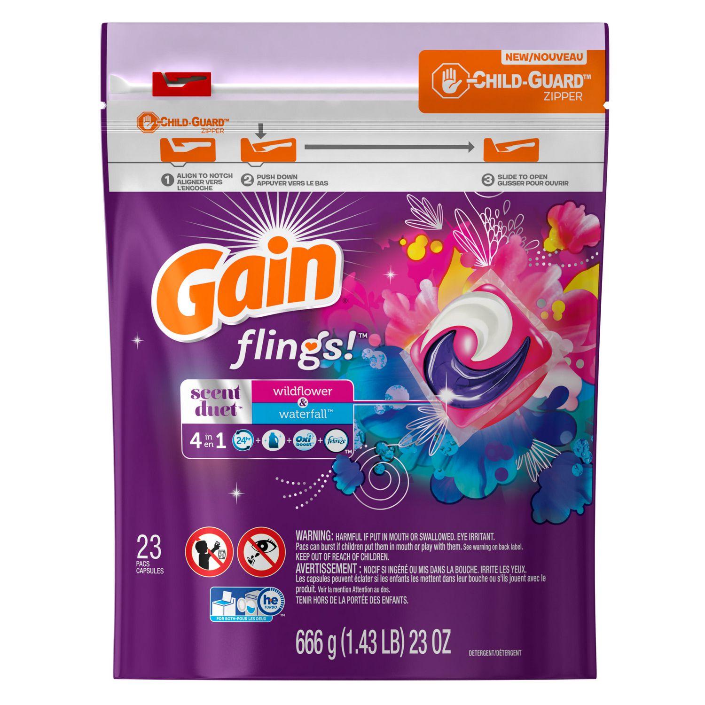 Gain Flings Scent Duets Laundry Detergent Pacs