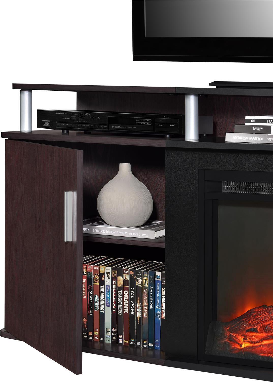 dorel tv console carson fireplace walmart canada