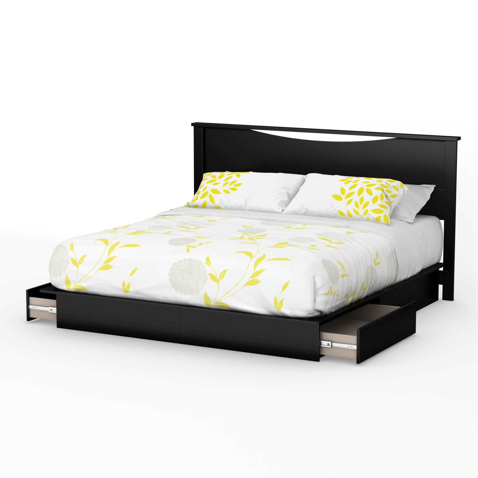 "south shore soho collection king platform bed (78"") with drawers"