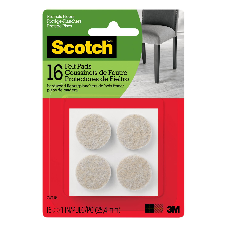 Scotch Round Felt Pads