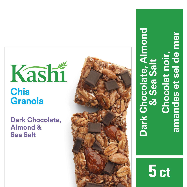 Kashi Chia Granola Bars, Dark Chocolate Almond & Sea Salt, 175g, 5 bars