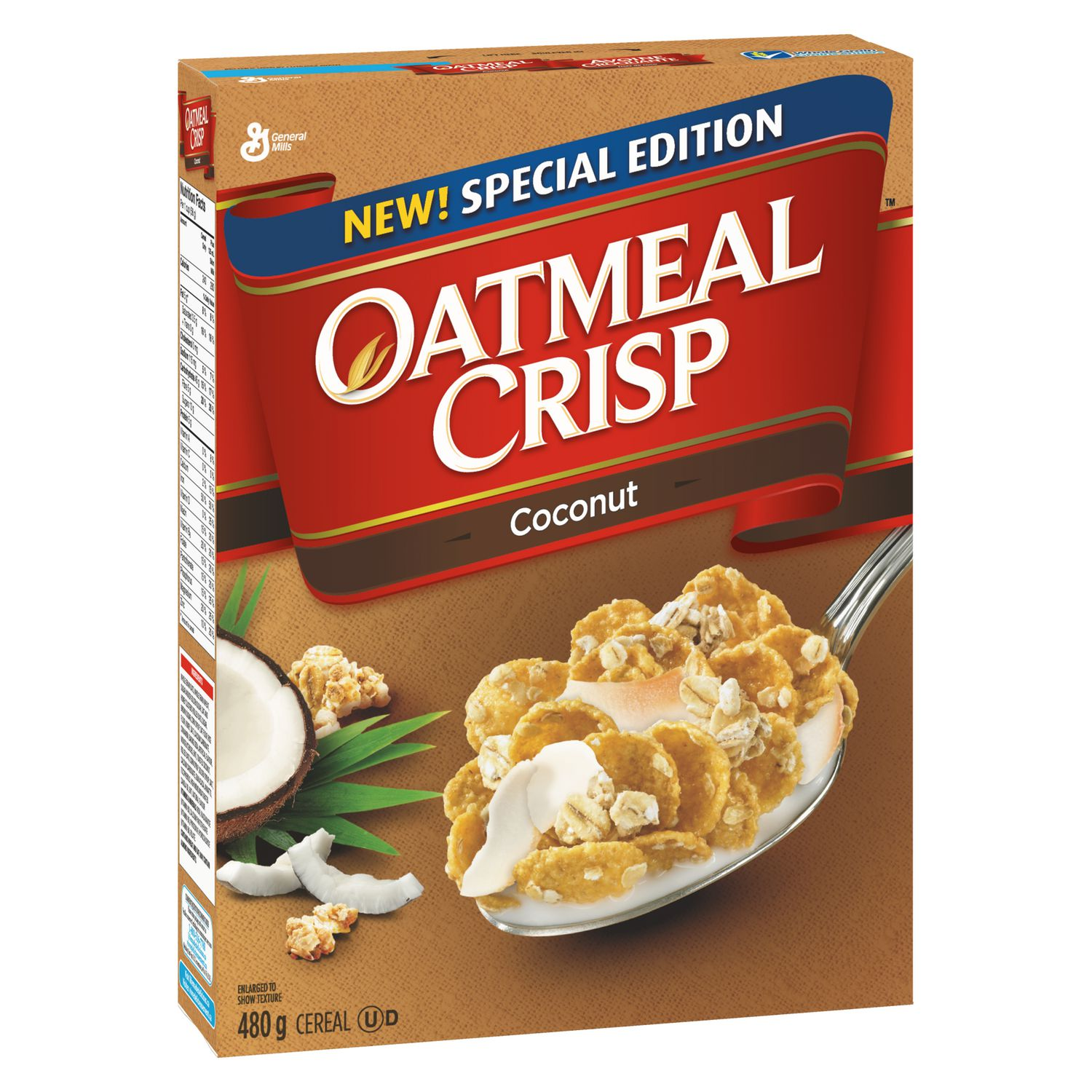 Oatmeal Crisp New! Special Edition Coconut Cereal