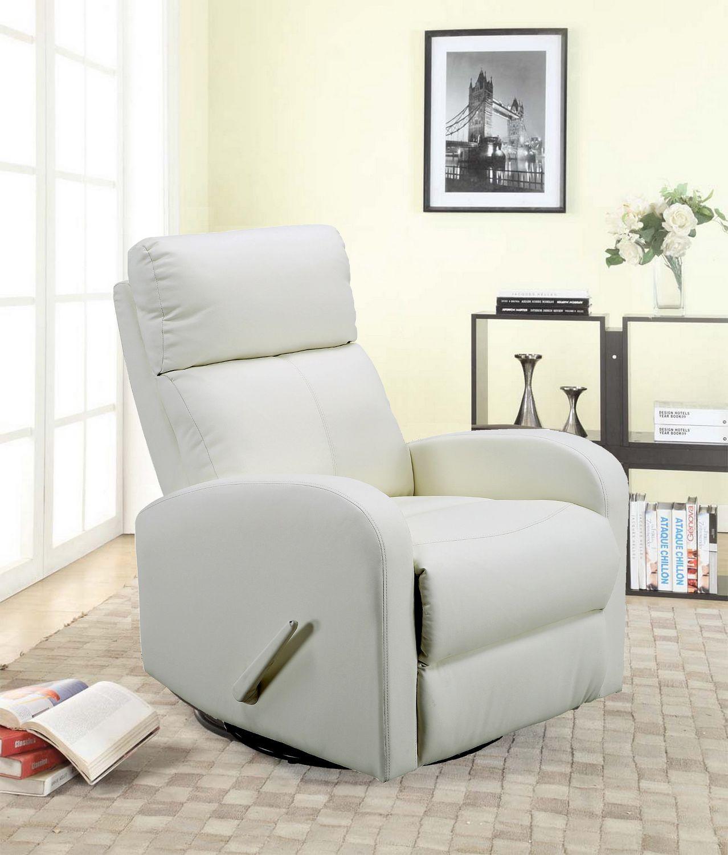 concord baby charleston white swivel glider recliner