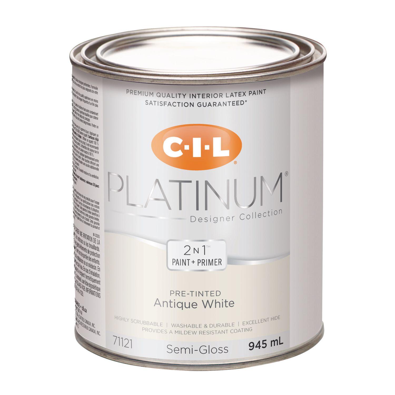 Cil Platinum Interior Paint Pre Tinted Antique White 945 Ml