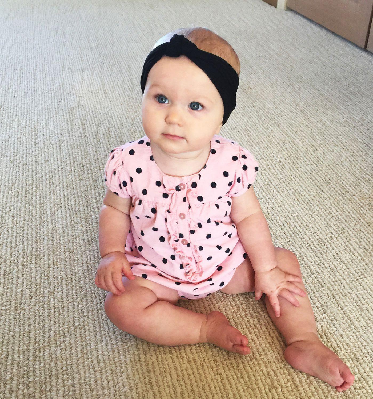 Baby Wisp - Headband - Nylon Turban Knot - Black - 3M+  c9f2c83bb57