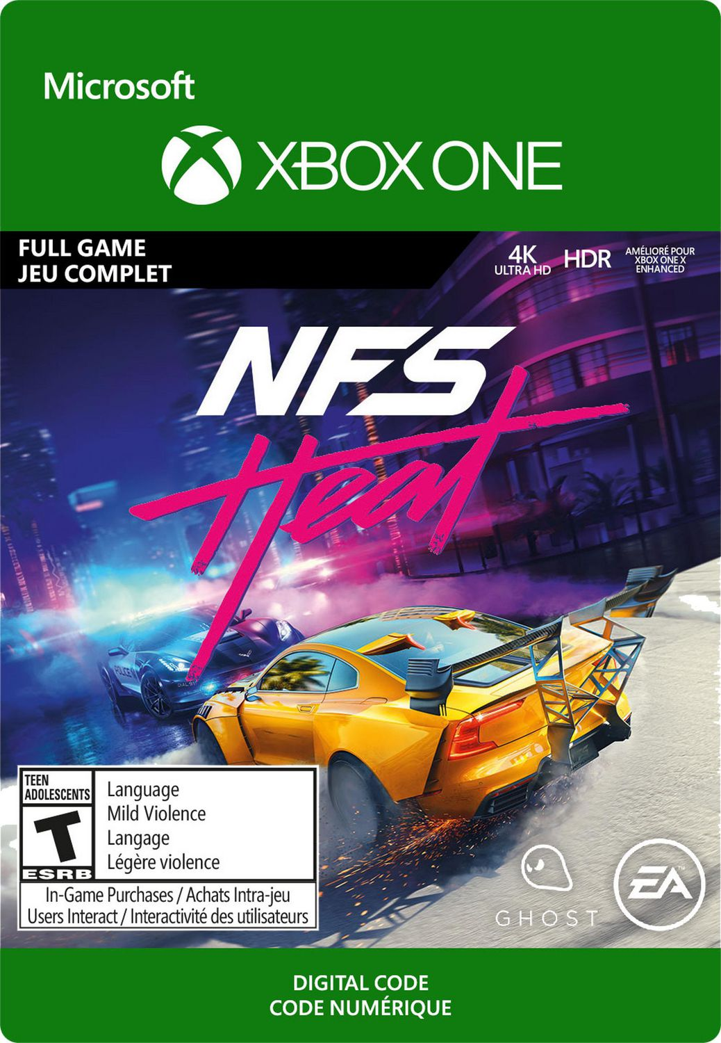 Xbox One Need For Speed Heat Standard Edition Download