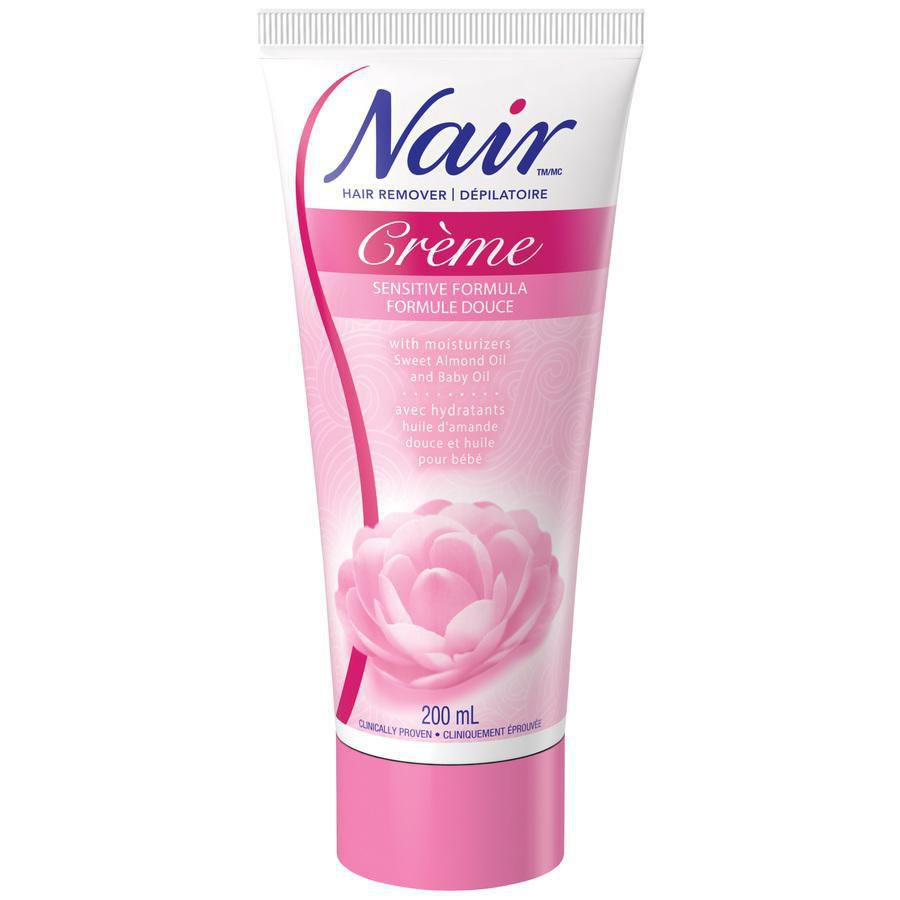 Nair Hair Removal Creme For Sensitive Skin With Sweet Almond Oil