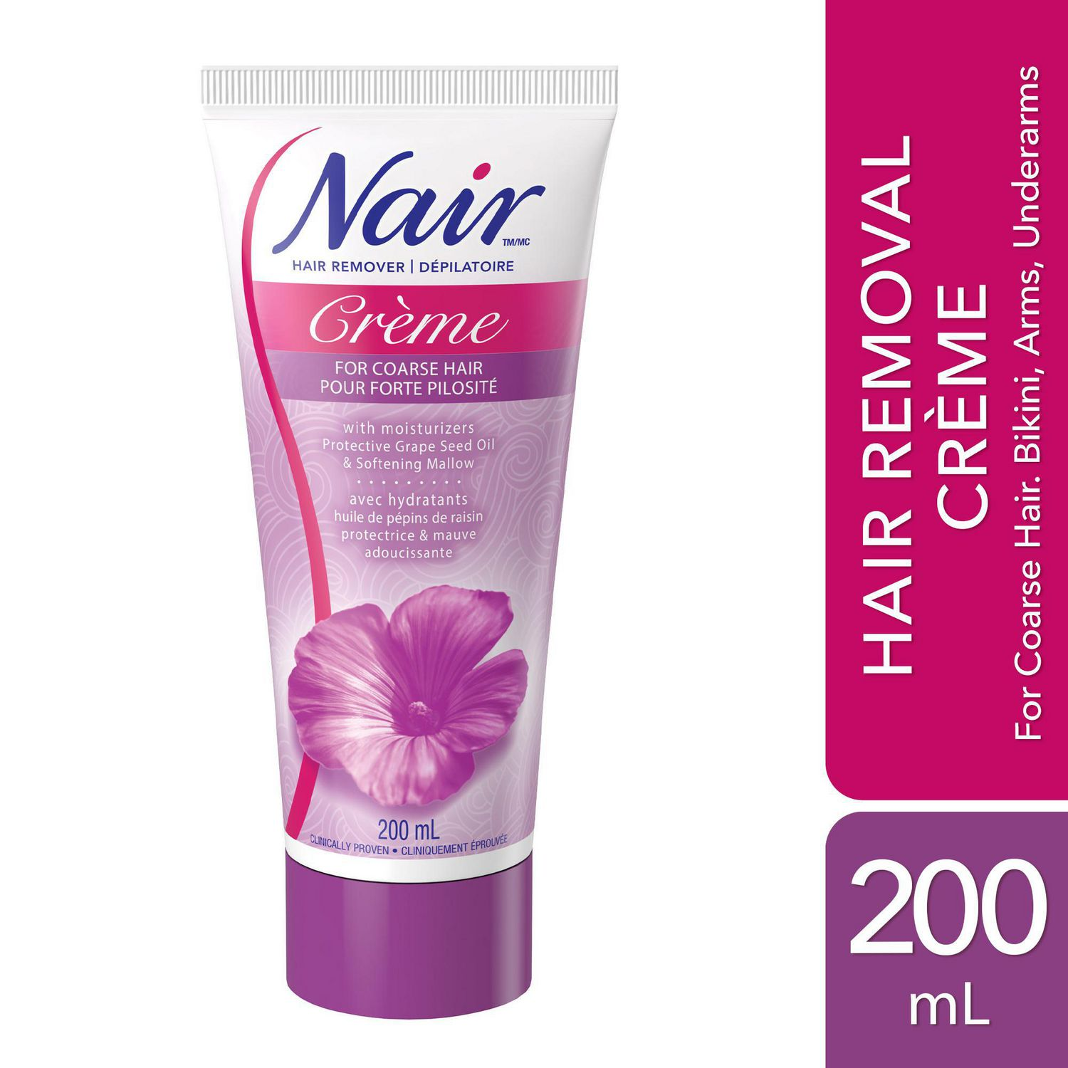 Nair Hair Removal Creme For Coarse Hair With Grape Seed Oil Walmart Canada