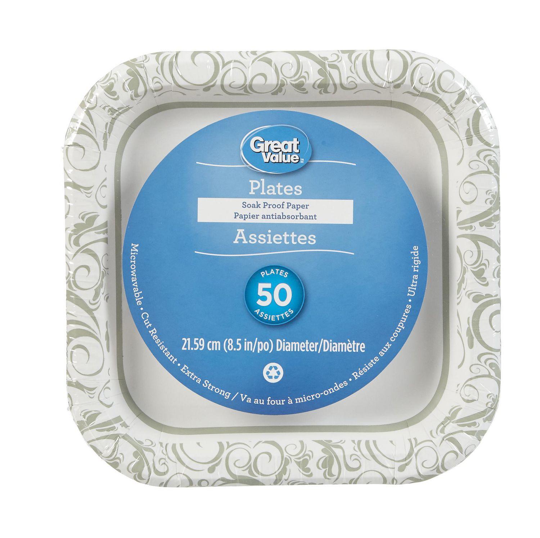 Great Value Paper Plates | Walmart Canada