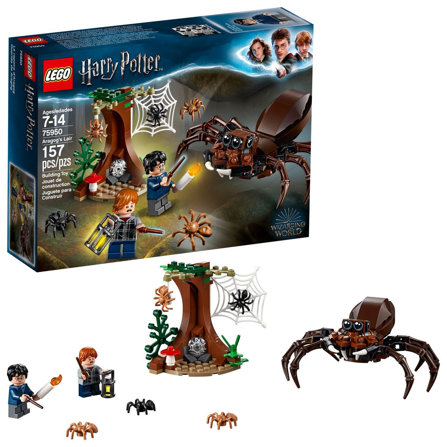 32c63e7d25c51a LEGO Harry Potter and the Chamber of Secrets Aragog's Lair 75950 Building  Kit (157 Piece)