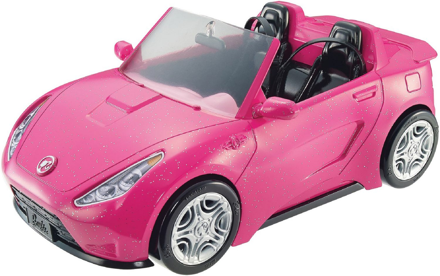 Barbie Glam Convertible Sparkly Pink Car Best For Ages 3 /& Up Doll Not Included