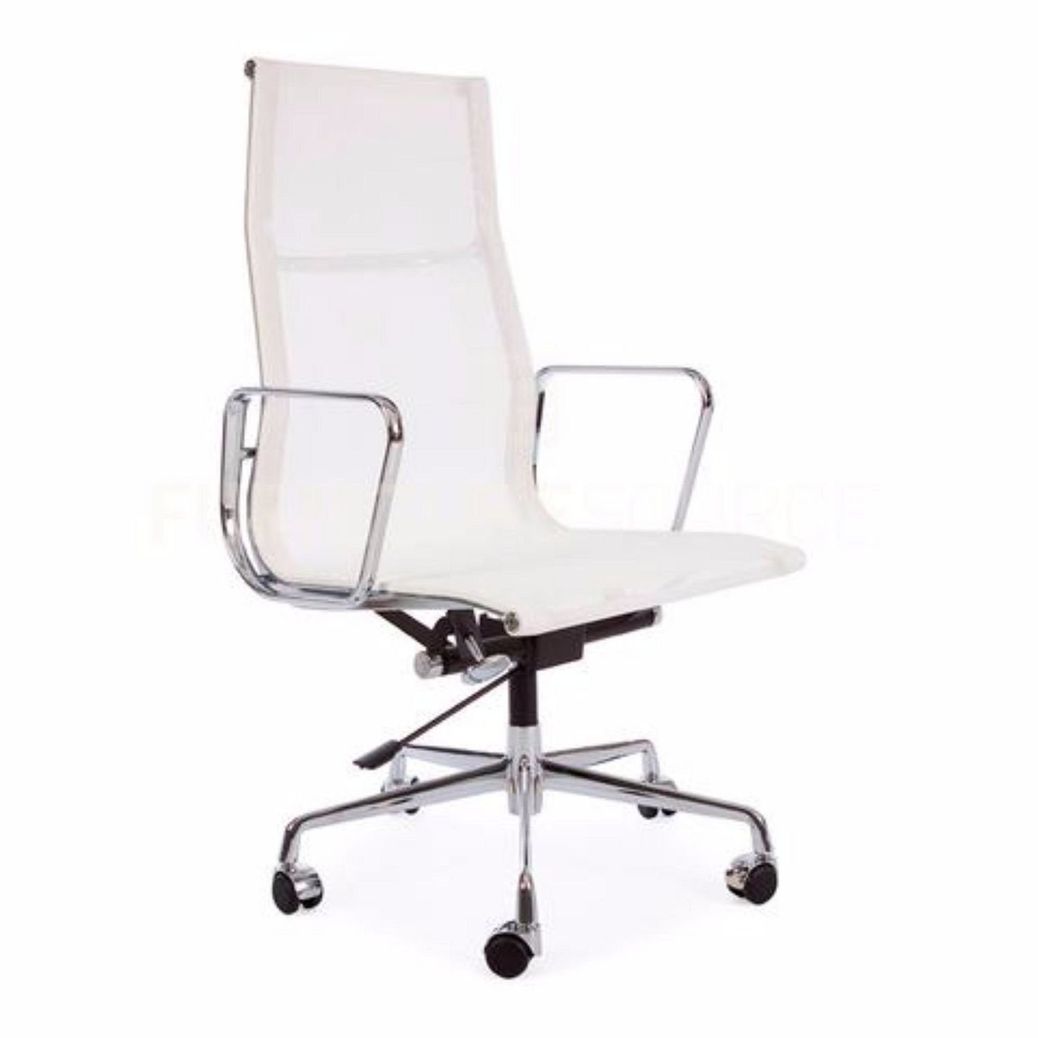 Nicer Furniture Tilt Adjustable Seat High Back Mesh Eames White Modern Executive Office Chair