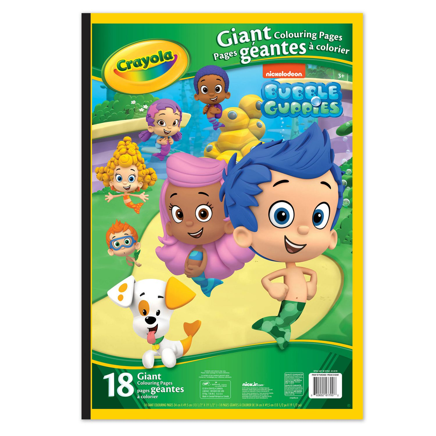 crayola giant colouring pages bubble guppies walmart canada