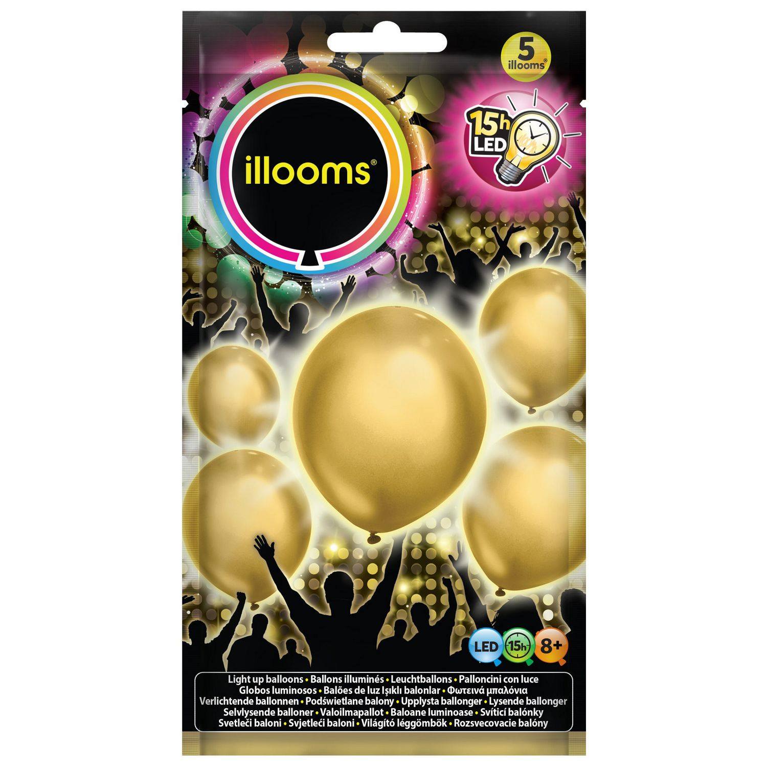 Illooms Gold Led Light Up Balloons Walmart Canada