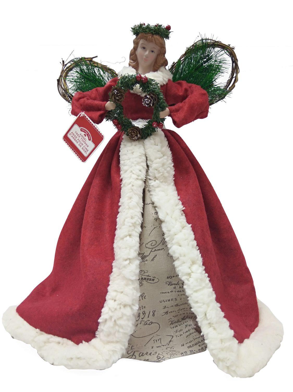 Décoration pour cime de sapin   Ange rouge | Walmart Canada