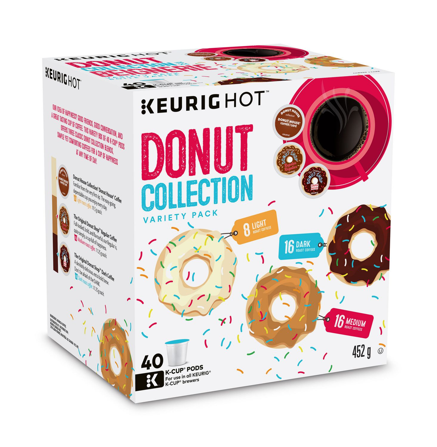 keurig hot donut collection variety box kcup coffee pods - Keurig Coffee Pods