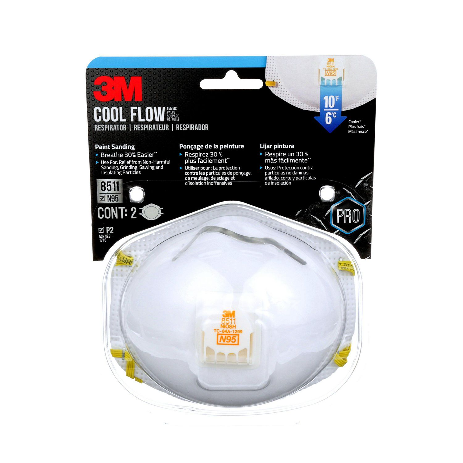 Flow™ Disposable Cool Respirator 3m™