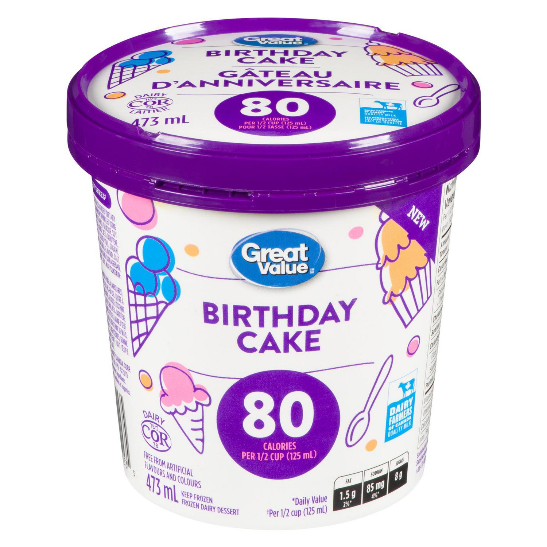 Admirable Great Value Birthday Cake Frozen Dairy Dessert Walmart Canada Funny Birthday Cards Online Fluifree Goldxyz