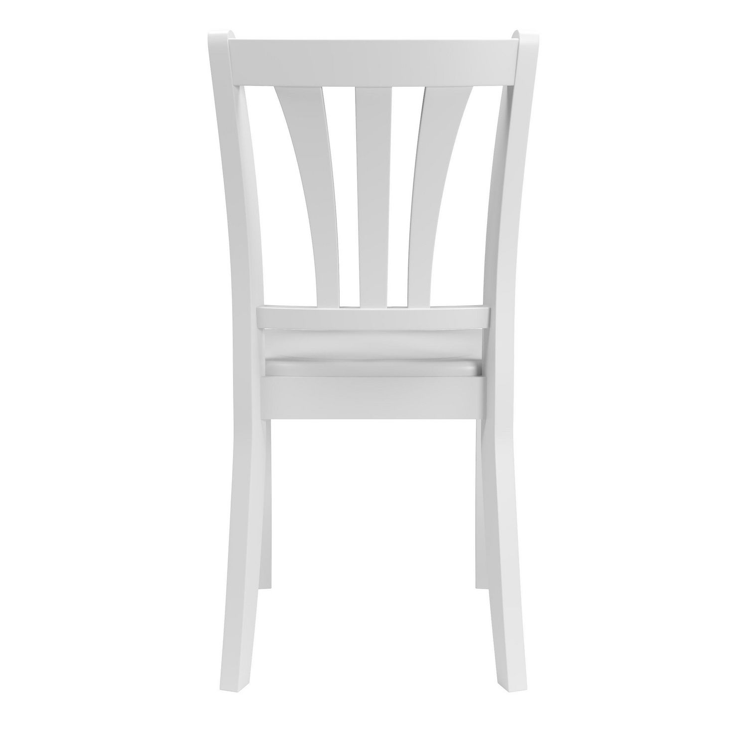 Corliving dillon curved vertical slat backrest white solid wood dining chairs walmart canada