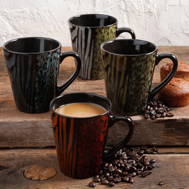 GIBSON HOME CAFE SAFARI 4-PACK 14OZ COFFEE CUP | Walmart ...